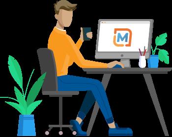 Designer working at a computer